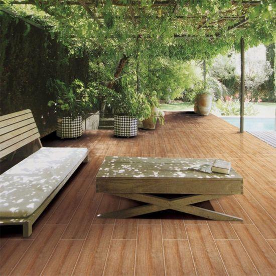 China Mediterranean Style Exterior Decorative Nature Pattern Wood ...