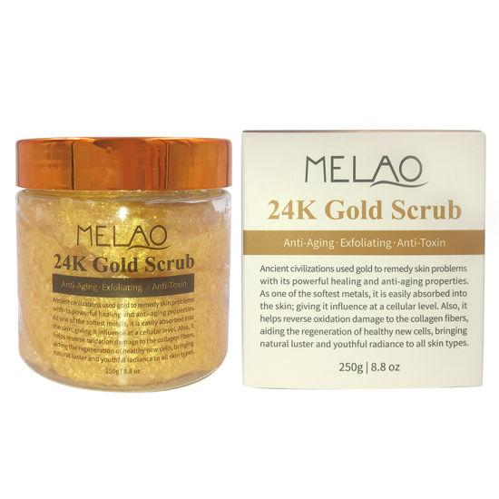 Melao/Private Label 24K Gold Body and Facial Scrub