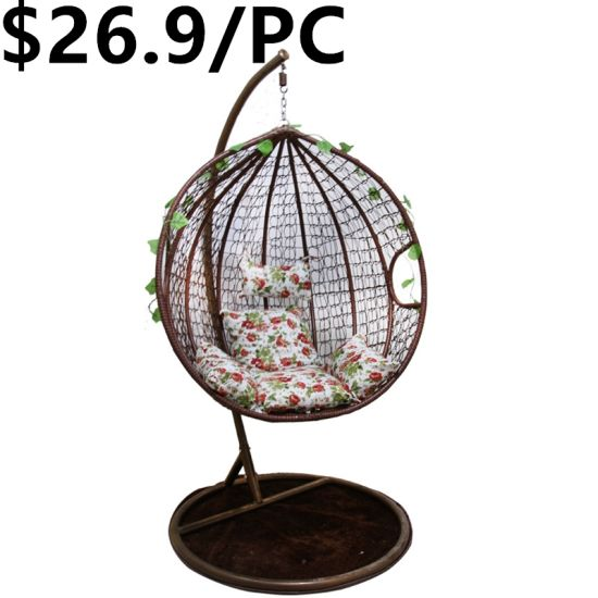 China Indoor Or Outdoor Black Rattan Adult Hanging Egg Swing Chair China Swing Chair Hanging Chair