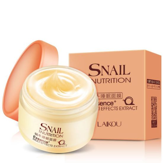 Snail Sleeping Mask for Face Anti Wrinkle Anti Aging Snail Face Reduce Freckles Acne and Spot Remover Face Mask