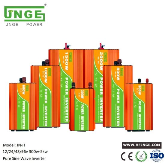 JNGE 300W 500W 600W 800W 1kw 2kw 3kw 4kw 5kw Pure Sine Wave Inverter for 12V 24V 48V 96V Solar Power System