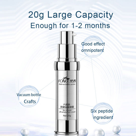 Anti-Wrinkle Eye Cream Six Peptide Anti-Aging Serum Black Circle Cleaner