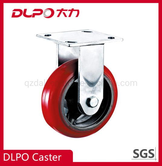 Dlpo Caster Wheels Wholesale 4 Inch Rigid Iron Core Plate Caster Wheel