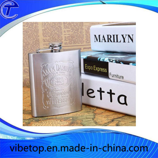 Stainless Steel Hip Flask with Logo Engraving (WB-05) pictures & photos