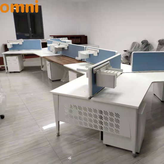 Desk Office Modern 8 Person Desk Office Office Desk with Cabinet pictures & photos