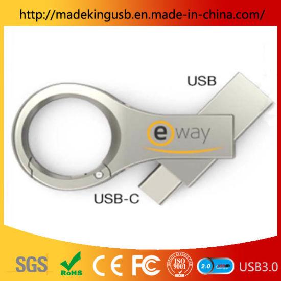 Promotional Metal Drive Free Logo Swivel Design USB Flash Drive