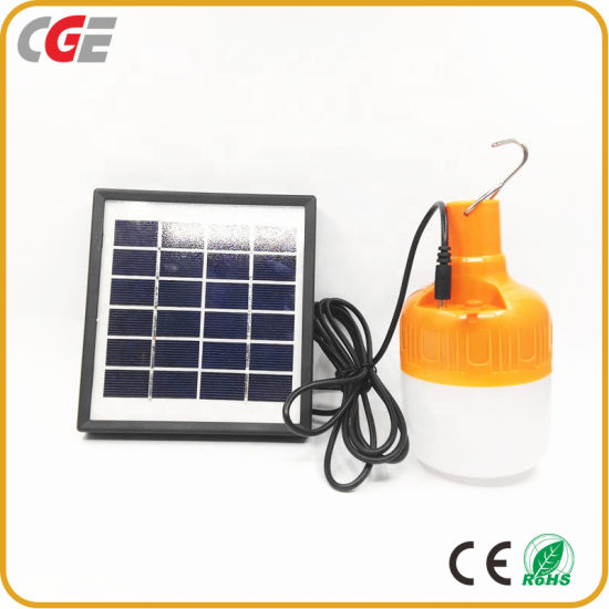 IP65 E27 10W 20W 30W High Quality Outdoor Camp Portable Energy Saving Solar LED Bulb Light