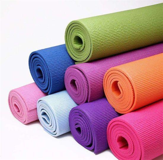 "Customized Logo Colorful 4-10mm Thickness PVC Yoga Mat (24"" X 69)"