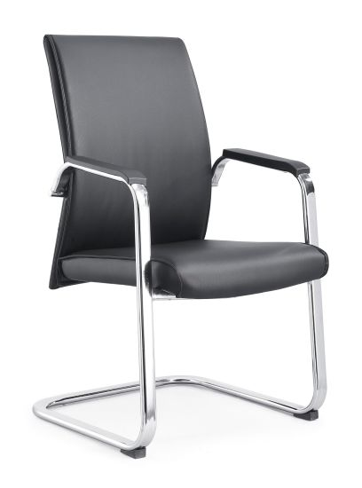 Leather PU Office Visitor Chair PU Leather Conference Office Chair for Meeting Room-2028d