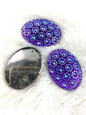 30X40mm Oval Resin Beads Sewing on Lady Garment Flatback Rhinestone Hot Glue on Women Shoes Hot Selling