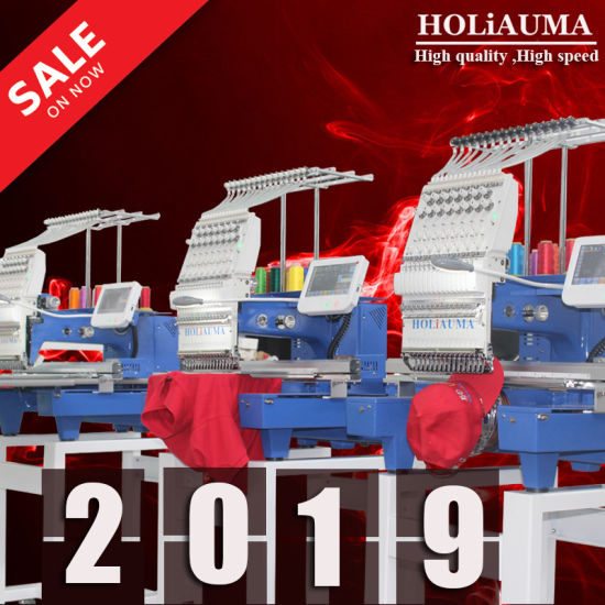 Hot Sale 15 Needles Single Head Flat Computerized Embroidery Machine Large Embroidery Area with High Speed