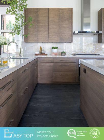 Walnut Wood Color Kitchen Cabinets Almari Modern Home Decoration Kitchen