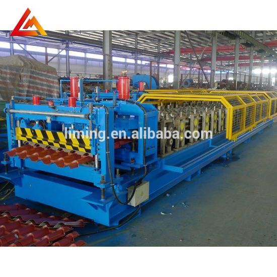 Colored Cold Roof Tile Making Machine/Glazed Roof Tile Machine/Step Tile Roofing Sheet Roll Forming Machine with Ce