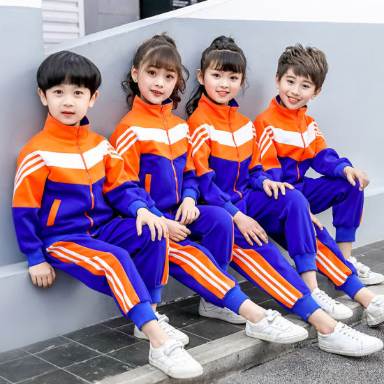 Kids Designer School Sports Wear Kids Uniforms Tracksuits Guangzhou Clothes School Tracksuits for Kids