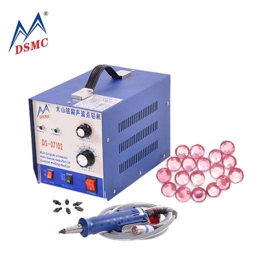 Dsmc Ultrasonic Strass Applicator Hotfix Rhinestone Machine for Shoes Stone Fixing