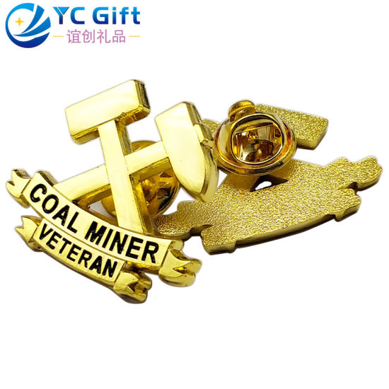 Factory Custom Metal Art Crafts Die Casting Plating Gold Button Badges 3D Military Army Garment Accessories Emblem Engraved Plaques Name Tag Lapel Pins