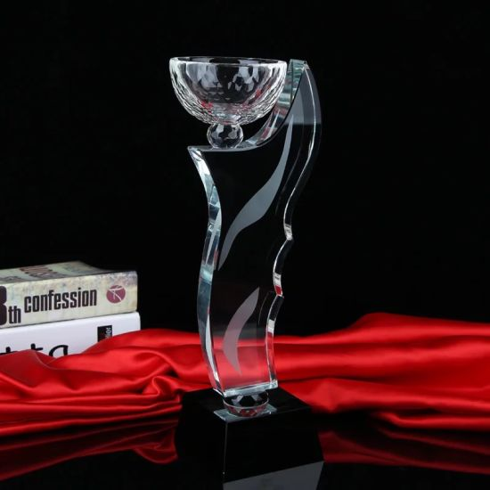 New Design China Supply 3D Laser Engraving Crystal Trophy