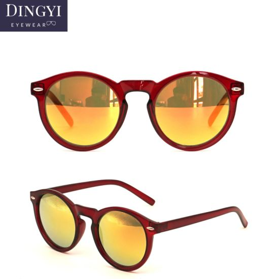 2019 Round Shape Unisex Cheap Polarized Sunglasses Vintage Sun Glasses for Men and Women