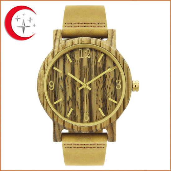 Hot Sale Hight Quality Quartz Zebra Wood Wrist Watch for Men Gift (JY-WO009) pictures & photos