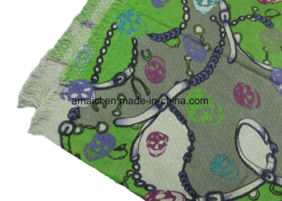 Printed Machine Flat Bed Printed Acrylic Shawl (ABF22004017) pictures & photos