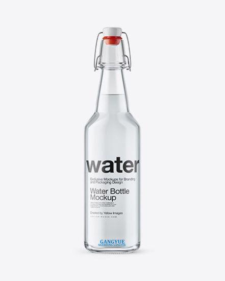 Beverage Drinking Waters Wine Beer Juice Oil Sauce, Vinegar Honey, Soft Drink Soda Waters Metal Clasp Lids Glass Bottles