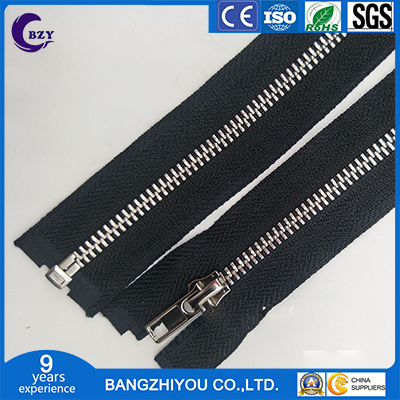 Washing Water Does Not Change Color Leather Open Tail Zipper Metal Open Tail Zipper