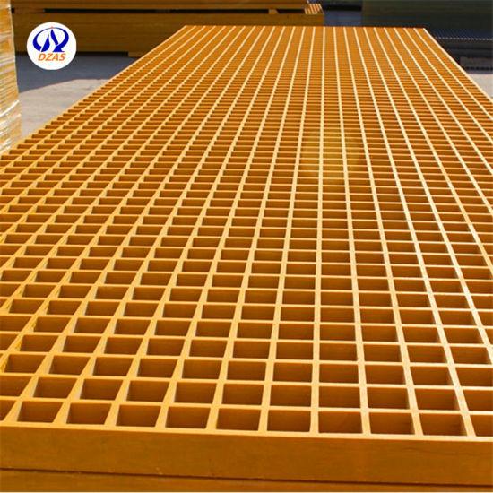 Molded Square Mesh Type Floor Grills/FRP Grating/Plastic Grills