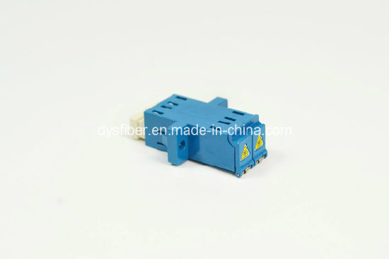 Fiber Optic LC Adapter, Shutter LC Duplex Adapter, Sm Blue pictures & photos