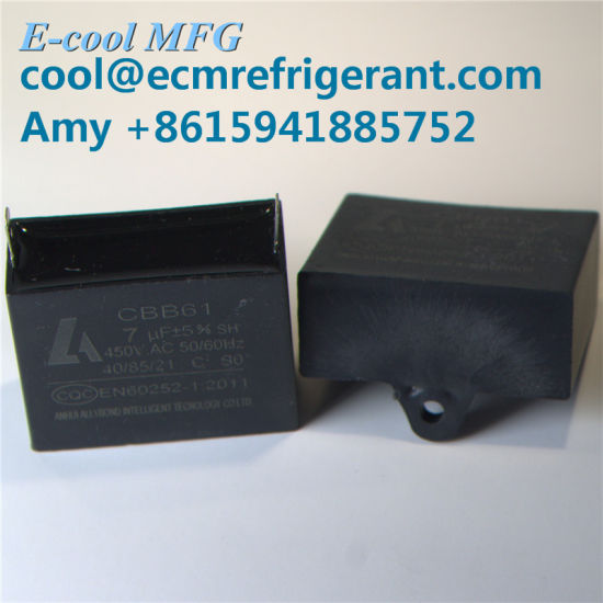 Cbb61 Series Fan Capacitor AC Motor Capacitor 4UF 450V Lowes AC Motor Start  Capacitor