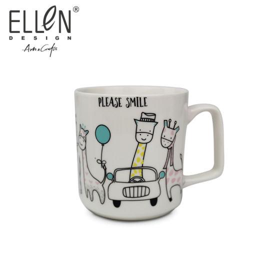 Promotional Gift Cartoon Smile Ceramic Coffee Mug