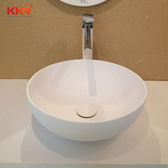 China Solid Surface Stone Bathroom Counter Sink Small Size