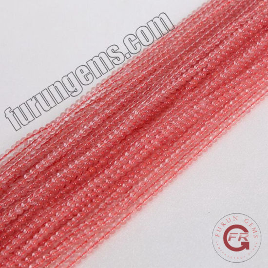 Loose Strand Gemstone Cherry Quartz Small Size 2mm3mm Mini Beads for Jewelry Making