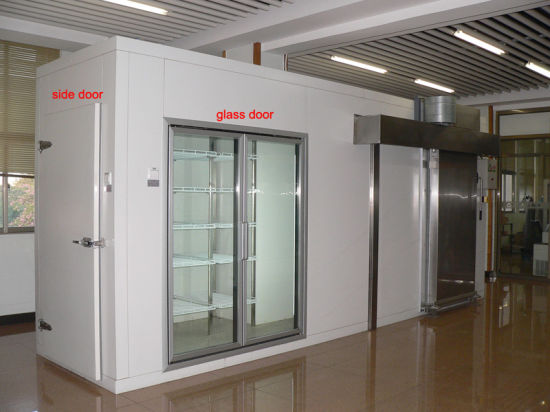 China Glass Doors Walk In Cooler Room In Supermarket China Walk In