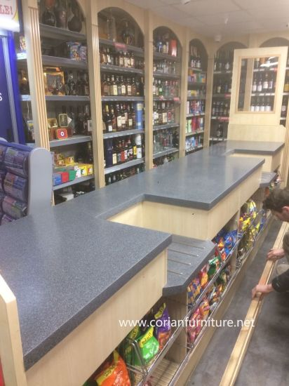 Corian Shop and Retail Cashier Counter Desk pictures & photos