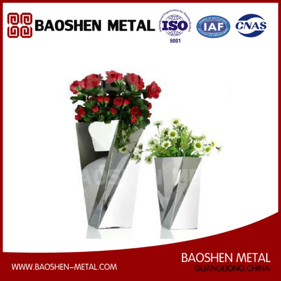 Small Rectangle Metal Stainless Steel Table Flower Vases Decoration Exquisite Made pictures & photos