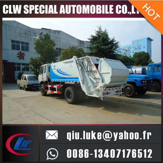 China Brand 10cbm 15cbm 18cbm Compressed Waste Garbage Compactor Truck pictures & photos