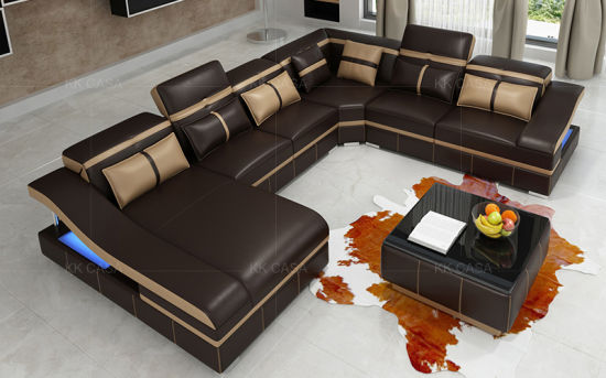China Por Sectional Fabric Leather
