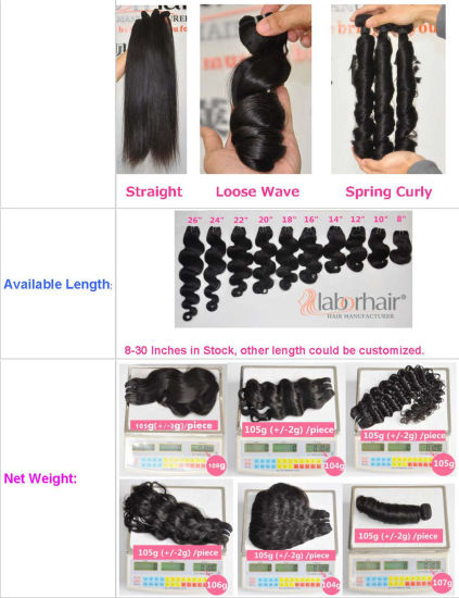 100% Human Hair Brazilian Virgin Hair Extensions Body Wave Natural Hair Lbh 098 pictures & photos