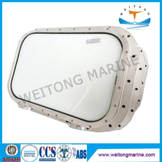 Double Glazed Marine Ship Boat Grade Aluminium Fixed Rectangular Side Scuttle/Porthole/Portlight Window for Ship