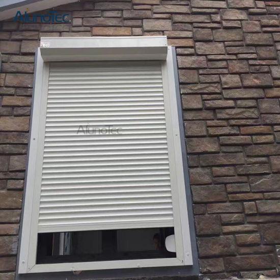 China motorized rolling blind window aluminum roller - Aluminum window shutters exterior ...