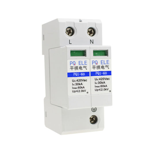 2P 30KA~60KA Din Rail Surge Protection Device SPD Lightning Arrester Protection