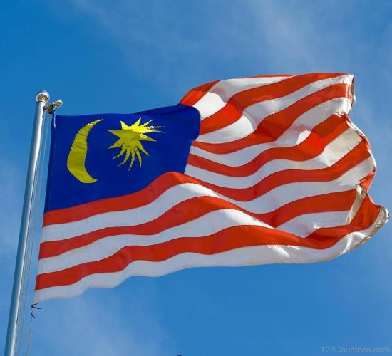 Indoor Outdoor All Countries Custom Malaysia  Flag Banner