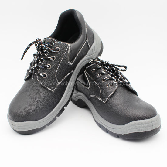 Genuine Cow Leather Safety Shoes with Steel Toe for Industry