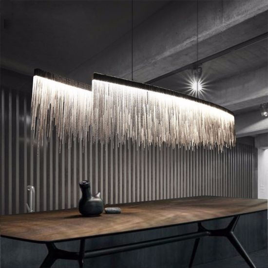 Modern Dining Room Chandelier Lighting Tel Aluminum Chain Pendant Light