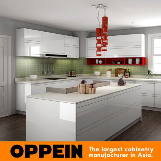 China Modern White High Gloss Lacquer And Light Gray