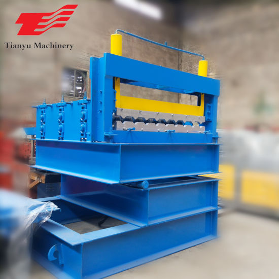 Color Steel Roof Profile Crimping Bending Roll Forming Machine