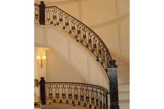 Haohan Customized Elegant Residential Decorative Galvanized Steel Stair Handrail 5 pictures & photos