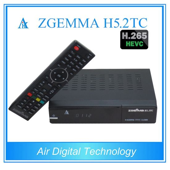 Multistream DVB-S2+2*DVB-T2/C Dual Tuners Zgemma H5.2tc Dual Core Linux OS Hevc/H. 265 Combo Receiver pictures & photos