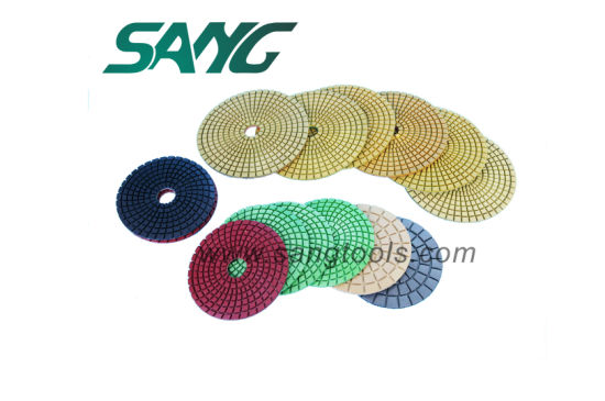 3 Step Diamond Wet Polishing Flexible Pad for Granite pictures & photos