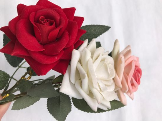 China Real Touch Silk Artificial Flowers Fake Rose Flowers For